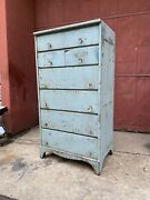 1920s Baby Blue Apothecary Cabinet Oak Cabinet Industrial Farmhouse Kitchen