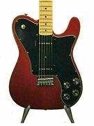 Fender Mexico Telecaster Deluxe Black Dove Red 2s P90x2 Used 1 Piece Maple Neck