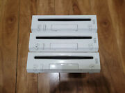 Lot Of 3 Nintendo Wii System Consoles Only White Rvl-001 Tested Working