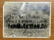 Old Train Photo Landn 80594 Mining Car, Full With Load And Many Persons In Front
