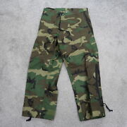 Woodland Camo Cold Weather Military Bdu Tactical Pants Trousers Sz Small Short