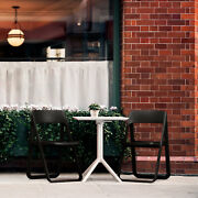 Siesta Dream Bistro Set With White Table And 2 Black Chairs Isp0791s-bla-whi