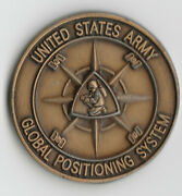 U.s. Army Global Positioning System Fort Monmouth Nj Coin 1.5dia Gb1