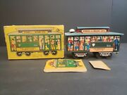 Vintage 1950' 514 Powell And Mason Sts Cable Car Friction Tin Litho Toy Mint Box