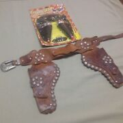 Cowboy 2 Pistol Holster With Toy Pistols