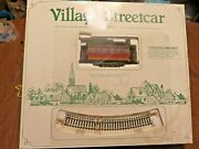 Dept 56 Village Streetcar Trolley Christmas Elect Train Tracks + Acc. Pre-owned