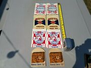 Lot Of 8 Chewing Tobacco Pouches Yankee Girl Way Up Union Workman Horse Shoe