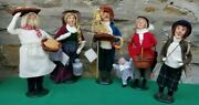 Byers Choice The Carolers Lot Of 5 Figurines 13-14 Tall Excellent