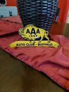 Aaa Autoclub 1939 Buffalo Advertising Sign Tag Topper