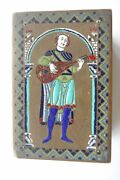 ⭐ Edward F Caldwell Enamel And Bronze Box Medieval Limoges Musician Box