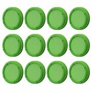12 Pack Plastic Sprouting Lids For 86mm Wide Mouth Mason Jars 12packs Green