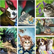 Diy Paint By Numbers Kits Animal Flower Scenery Canvas Oil Painting Home Decor