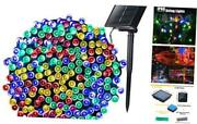 Outdoor Solar Christmas String Lights With 8 Lighting 1 Pack Multi Color-1 Pack