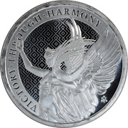 1 Oz Silver Coin St. Helena 2021 Queenand039s Virtues Victory Through Harmony .999 Bu