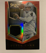 2014 Panini Select Derek Carr Rookie Rc Jersey Patch Card 44/149