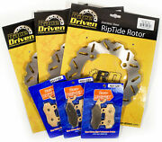 13-17 Can-am Commander Dps 800r Front And Rear Riptide Brake Rotors And Brake Pads