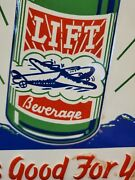 Lift Beverage Soda Advertising Sign Airplane Graphics Tin Sign