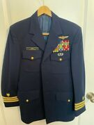 Vintage Collection Of Us Coast Guard Dress And Formal Officerand039s Uniforms W/cap