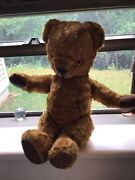 Old Teddy Bear England Jointed Nygientic Toys Vintage Primitive