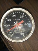 Vintage Airguide Sea Speed Marine Boat Speedometer 0-45mph 4787 Chrome As Is