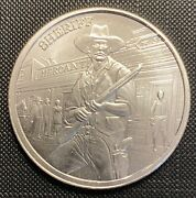 1 Troy Ounce .999 Fine 2021 Silver Prospector Series Sherriff With His Gun