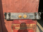 1860s Victorian Slate Mantle W/ Trent Tile Co Fire Place Antique French Country
