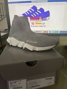 Balenciaga Womenand039s Speed Lt Knit Laminated Trainer Sneakers Size 39/ Us 9