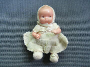 Antique Celluloid Baby Doll Usa Irwin Doll 1930and039s Clothes Original Nice