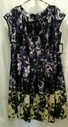 Slny Sl Fashions New York New With Tags Dress Multi Colors Plus Size 16w