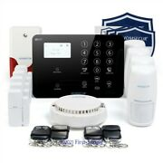 Homsecur Wireless 4g/gsm Sms Autodial Home Security Alarm System+smoke Detector