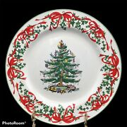 Nwt Spode 2007 Annual Collector 12 Inch Buffet Plate Christmas Tree Red Ribbon