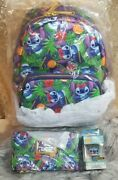 Loungefly Disney Lilo And Stitch Tropical Mini Backpack And Wallet And Pop Keychain