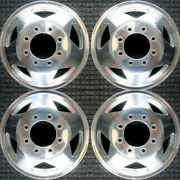 Ford F-250 Super Duty Without Center Hub Notches 16 Oem Wheel Set 1999 To 200