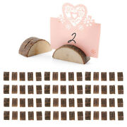 60x Wood Slices Log Slice Tree Trunk Wooden Wedding Event Table Cards Holder