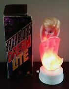 Vintage Bachelors Dream Lite Boxed 1960and039s Nude Doll Bar Light Barware Man Cave