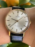 Omega Geneve Watch Automatic Cal.552 Solid Gold 18k Mens 613.009 Swiss Made