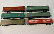 Athearn, Roundhouse, 6 Ho Reefers, Chateau Martin, Gn, Prr, Railway Express Agcy