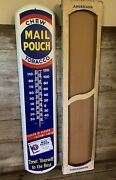 Vintage Chew Mail Pouch Tobacco 1951 Tru Temp Nos Thermometer Sign In Box Wow