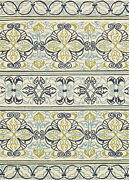 Couristan Covington 2and0396 X 8and0396 Runner Rug In Ivory/navy/lime 30377821026086u