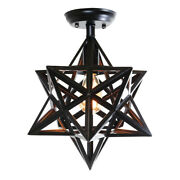 Warehouse Of Glass And Metal Chandelier In Bronze Finish C1709-1