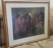 African American Black Ethnic Women Art Wood Framed Picture Print 29.5 X 33.5