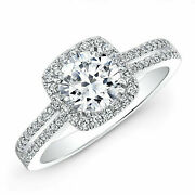 Round Cut 1.55 Ct 950 Platinum Real Diamond Proposal Ring For Womenand039s Size 6 7 8