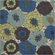 Nourison 8and0396 X 8and0396 Home And Garden Light Blue Indoor/outdoor Square Rug