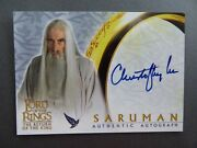 Christopher Lee Saruman Autograph Card Lotr Lord Of The Rings Rotk Signed Rare