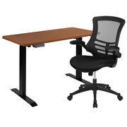 Flash Furniture Mahogany Stand Up Desk With Task Office Chair Bn-blx5std-r-gg