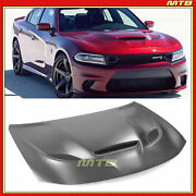 Hellcat Widebody Style Aluminum Hood For Dodge Charger 2015-2021 Single Scoop