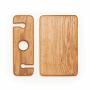 At Home On Main Handmade Wood Cheese Board With Wine Glass Holder Wslwghcbs1