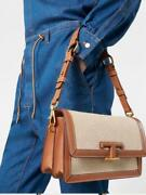 Todand039s T Timeless Mini Leather And Technical Fabric Crossbody Shoulder Flap Bag