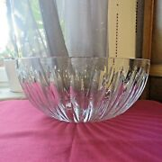 Large Cup Centre Table Bowl In Crystal Baccarat Signed