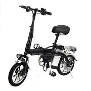 14 Inch Folding Electric Bike Lithium Battery Electric Bicycle Light Driving Adu